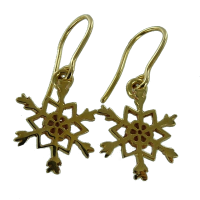 Boucles d'oreilles Or Jaune Flocon