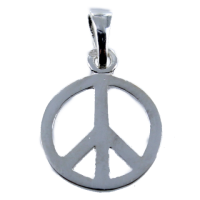 Pendentif Argent Peace and Love