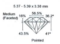 Diamant Taille Brillant 5.37mm 0.60 carat HSI2 - Image 3