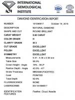 Diamant Taille Brillant 5.37mm 0.60 carat HSI2 - Image 2