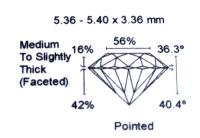 Diamant Taille Brillant 5.36mm 0.60 carat HSI2 - Image 3