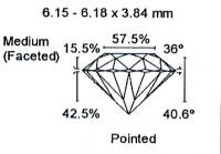 Diamant Taille Brillant 6.15mm 0.91 carat HSI2 - Image 3