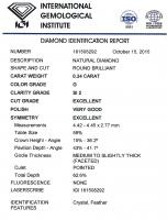 Diamant Taille Brillant 4.42mm 0.34 carat GSI2 - Image 2