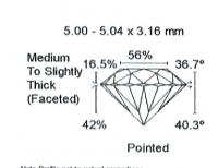 Diamant Taille Brillant 5.00mm 0.50 carat HSI2 - Image 3