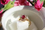 Eclats de sucre - Bague Thilme Or jaune Rubis Diamants